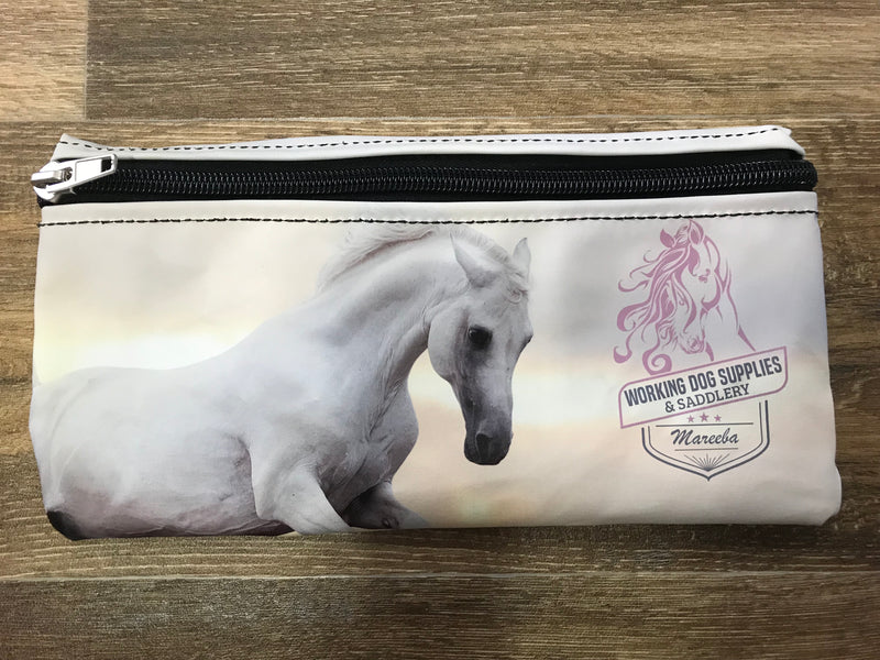Pencil Case White Horse