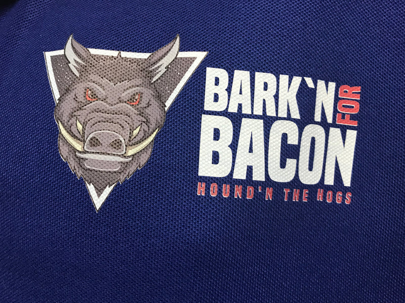 Mens Bark'n For Bacon Polo