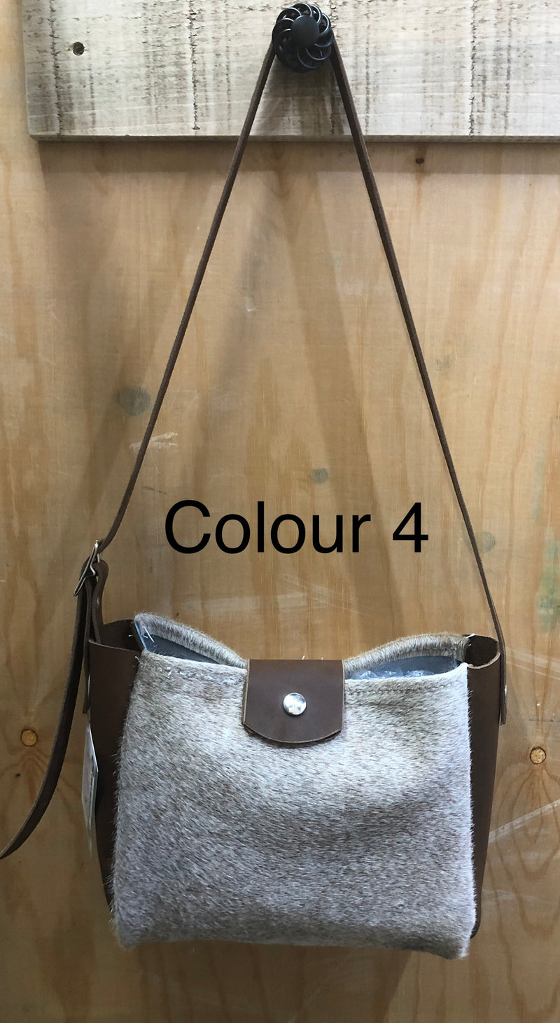 Cow Hide Leather Hand Bag