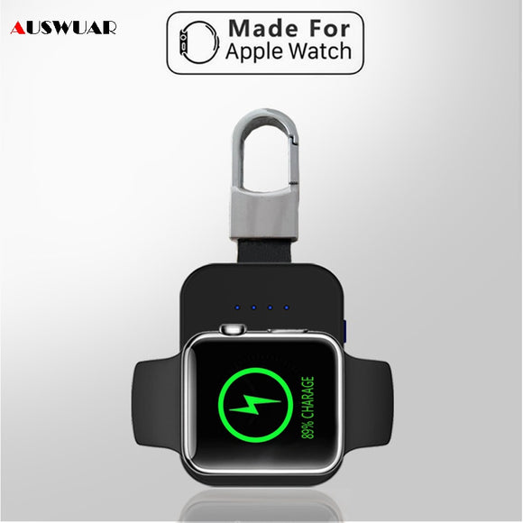 Portable Wireless Key Chain Charger for Apple Watch 1 2 3 4