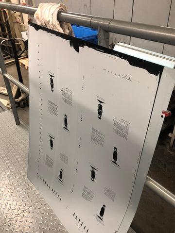 e0864aeb6 Things like image clarity, placement, page order etc are carefully poured  over. Once this is done the printer makes the aluminium printing plates  (below).