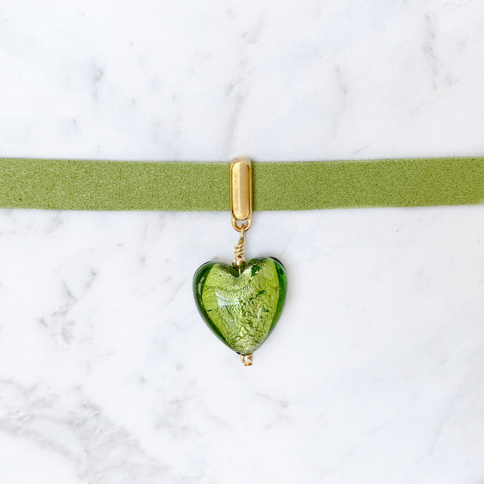 Lime Heart Collar