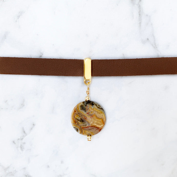 Crazy Lace Agate Collar