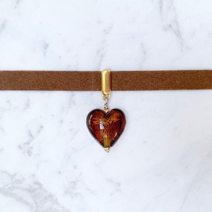 Chocolate Heart Collar