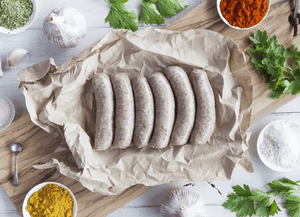 Certified Organic Beef, Garlic & Parsley Sausages