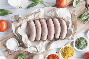 Certified Organic Beef, Tomato, Onion & Basil Sausages