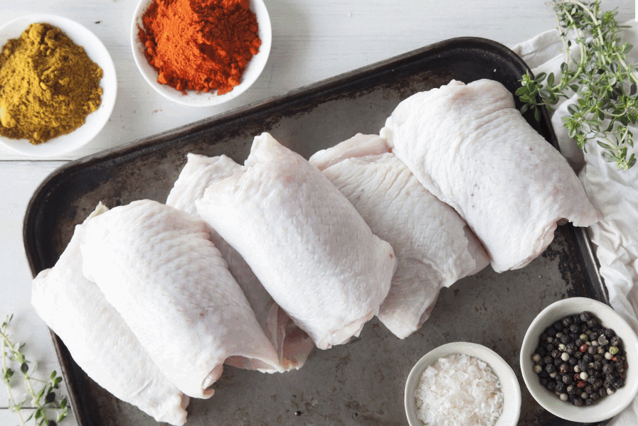 Certified Organic Chicken Thigh Fillets - 1kg