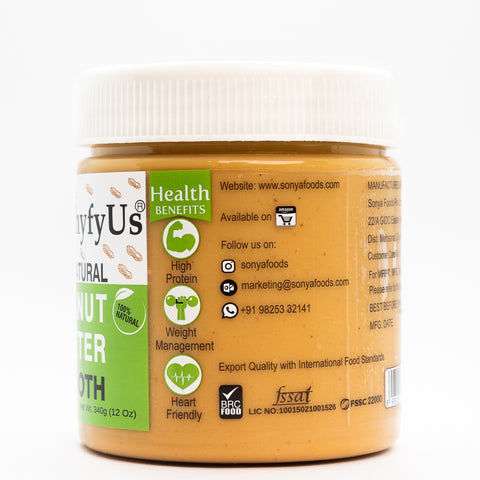 HealthyfyUs All Natural Smooth Peanut Butter (Creamy Peanut Butter)