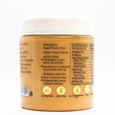 HealthyfyUs All Natural Honey Smooth Peanut Butter