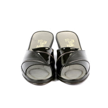 Load image into Gallery viewer, Grace leather slippers open toe with patent leather