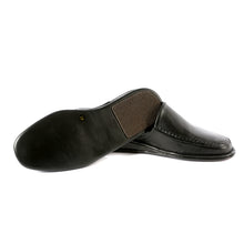 Load image into Gallery viewer, Clark leather slippers with leather sole