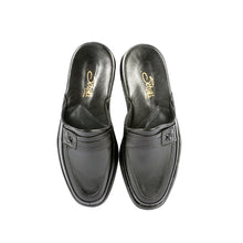 Load image into Gallery viewer, Marlon leather slippers with leather sole and leather appliqué