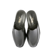 Load image into Gallery viewer, Kirk leather slippers with leather sole and leather appliqué