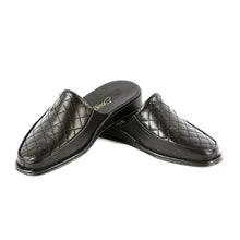 Load image into Gallery viewer, Errol leather slippers with leather sole and leather pattern