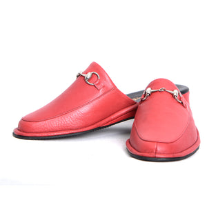 Prince Elton leather slippers with leather sole