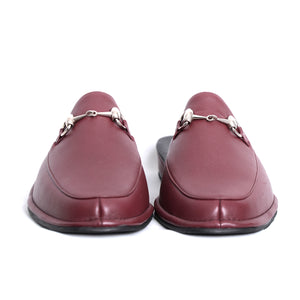 Prince Vino leather slippers with leather sole