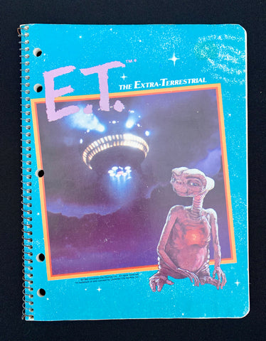 """1982"" Unused E.T. Notepad (Blue E.T.)"