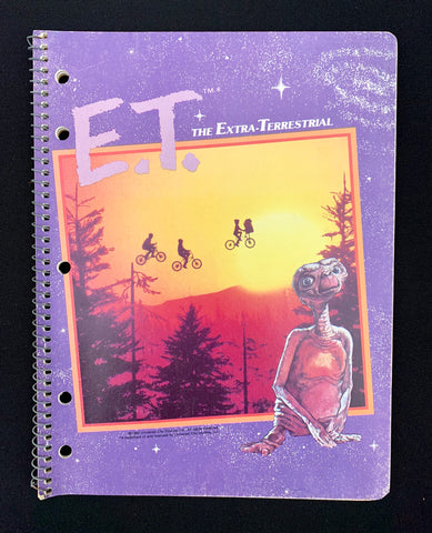 """1982"" Unused E.T. Notepad (Purple E.T.)"