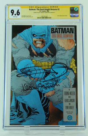 Batman: The Dark Knight Returns #2 CGC: 9.6 Signed Klaus Janson & Frank Miller
