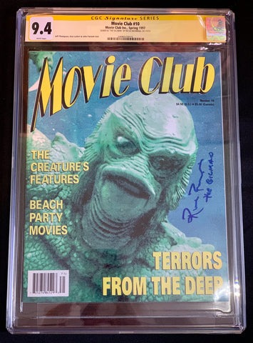 Movie Club #10 (1997) - CGC Signature Series 9.4 - Signed by Ricou Browning