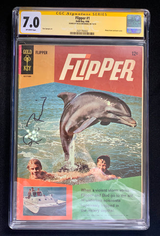 Flipper #1- CGC Signature Series 7.0- Signed by Ricou Browning