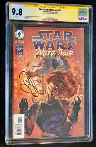 Star Wars: Mara Jade by the Emperor's Hand #2 CGC 9.8 Signed Timothy Zahn