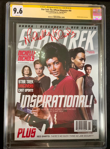Star Trek: The Official Magazine #60- CGC Signature Series 9.6- Signed by Nichelle Nichols