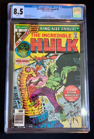 Incredible Hulk Annual #6 (1977)- CGC Universal Grade 8.5 1st App. Paragon becomes Her, Kismet & Ayesha