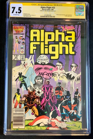 Alpha Flight #33 CGC 7.5 Signed Mike Mignola 1st Lady Deathstrike