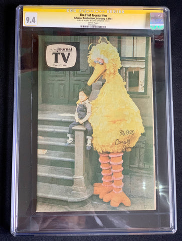 The Flint Journal / TV Guide 1981 - CGC Signature Series 9.4 - Signed by Caroll Spinney