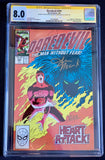 Daredevil #254 CGC 8.0 1st App. Typhoid Mary Signed John Romita Jr. and Ann Nocenti