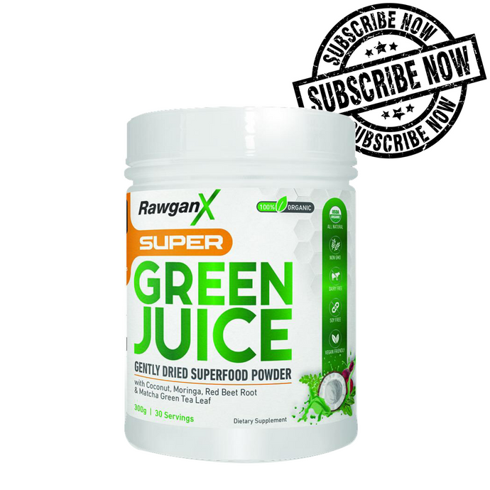 RawganX Super Green Juice - 30 Days
