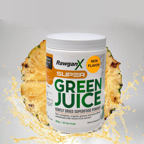 RawganX Super Green Juice (Pineapple Mango)- 30 Days