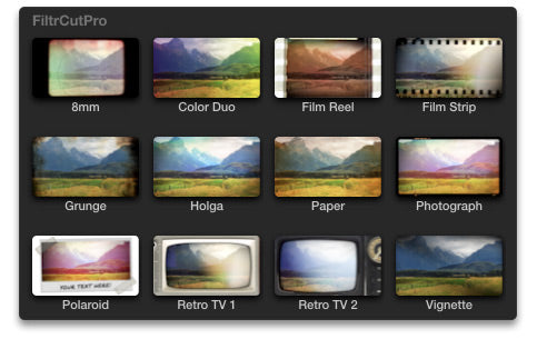 FiltrCutPro filters within Final Cut Pro editing software