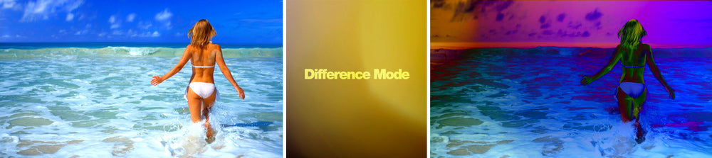 Difference composite mode in FCP 7 & X.  FIlm burns available.