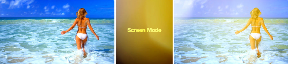 Screen composite mode. How to use in FCP with light leaks.