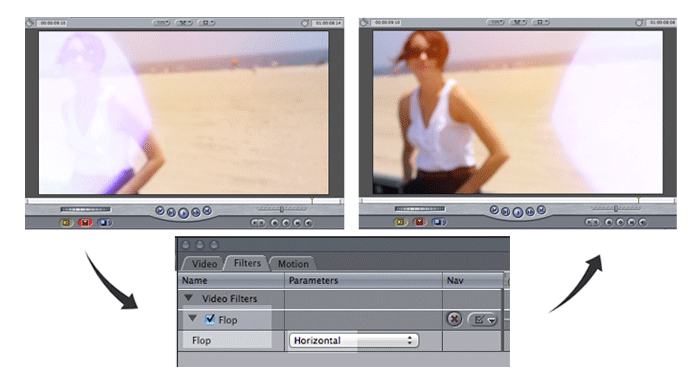 how to flop in final cut pro.