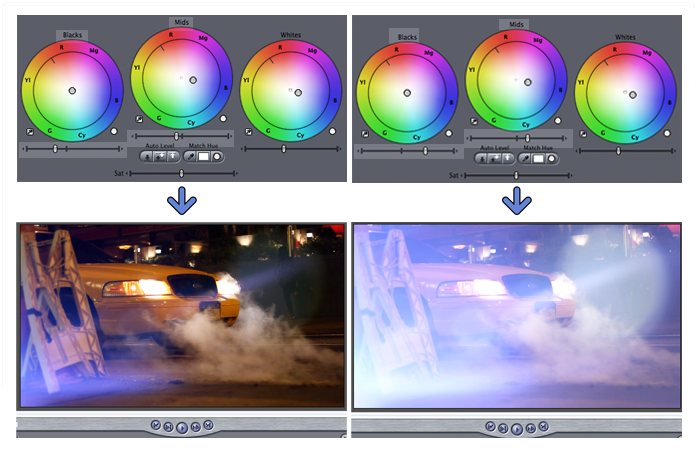 Using FCP to improve light leak effects.