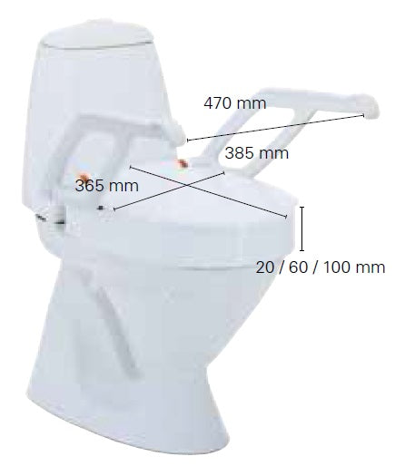REHAUSSE WC  AQUATEC AT90000 COUVERCLE SANS ACCOUDOIR 100 MM