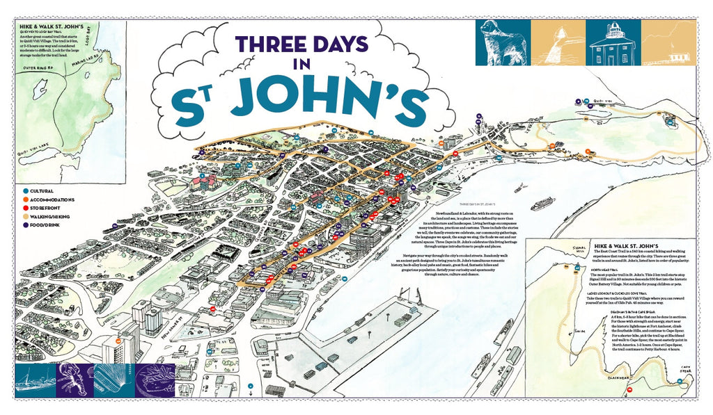 Tourism Map of St Johns Newfoundland