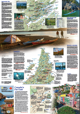 National Geographic Travel Map of Newfoundland