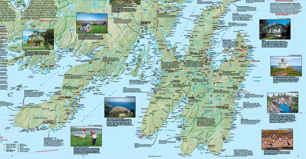 Travel Map of Newfoundland by National Geographic
