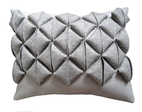 Grey origami parcel cushion