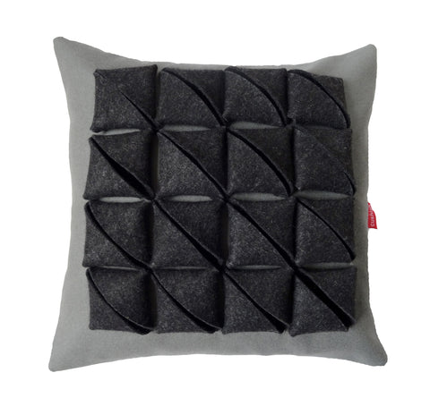 Diagonal origami parcel cushion