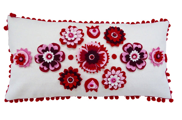 Nordic inspired floral cushion
