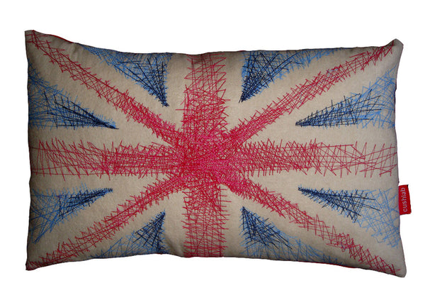 Embroidered Union Jack cushion