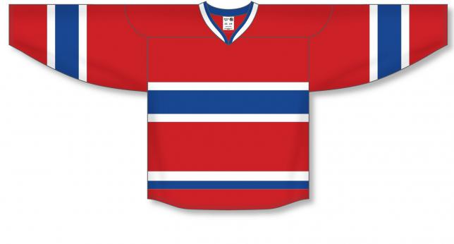 2007 MONTREAL RED Double Elbows Pro Blank Hockey Jerseys