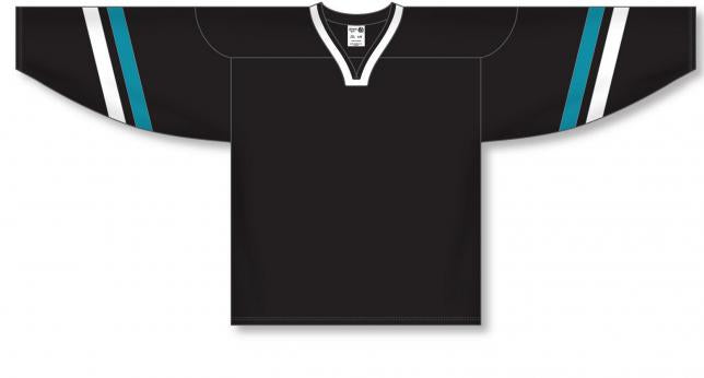 2002 SAN JOSE 3RD BLACK Pro Blank Hockey Jerseys