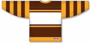 BOSTON BROWN Pro Blank Hockey Jerseys