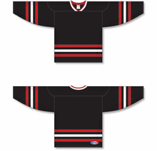 Load image into Gallery viewer, NEW CHICAGO 3RD BLACK Sleeve Stripes Pro Blank Hockey Jerseys